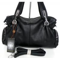 Buy cheap New Style 100% Great Leather Black Shoulder Bag Handbag Purse #3025A  product