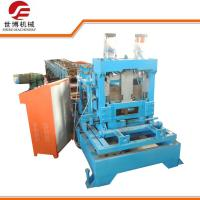 Buy cheap Automatic Metal C Purlin Roll Forming Machine With Interchangeable Cutter Device from wholesalers