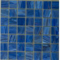 Luxury blue glass mosaic tiles for swimming pool bathroom for Swimming pool wall tiles