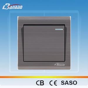LK6001 1gang 1way brush panel switch