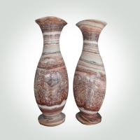 Buy cheap China marble Stone Handicrafts High Brightness Marble Flower Pot Decorative Artwork Customized Shaped / Size product