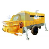 Buy cheap Hydraulic Mini Concrete Pump Machine , Yellow Trailer Mounted Concrete Pump product