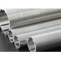 Oil Well V Wire Screen Wire Mesh Filter / Stainless Steel Well Screen Slot Size