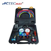 Buy cheap Accuratemanifold gauge , Aluminum r134a / r22 Pressure Gauge With Rubber Hose product