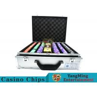 Buy cheap Stripe Suited Casino Poker Chip Set , 12g Poker Chip Sets With Denominations product