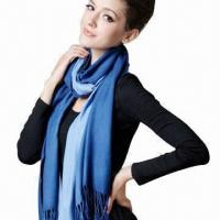 Buy cheap 2013 Fashion comfortable and soft ladies' tassels acrylic fiber scarf, weights 220g/piece  product