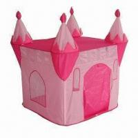 Buy cheap Kid's Castle Tent with 170T Polyester Floor, Easy to Set-up and Store product