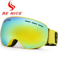 Big Vision Dual Lens Ski Goggles , Mirrored Snow Goggles For Night Skiing
