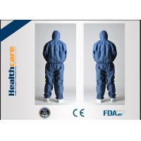 China CE Approved Disposable Protective Coveralls Nonwoven Suits White / Yellow / Blue Color on sale