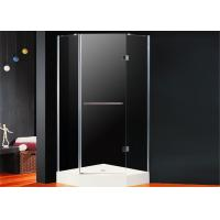 Quality Diamond Frameless Hinged Shower Enclosure 800 x 800 Folding Open With Magnetic Seal for sale