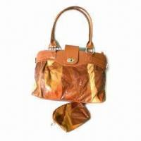 Buy cheap Patchwork leather handbag, polyester lining product
