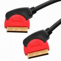 Buy cheap Audio/Video Cables/Double Color Assemblies with 24K Gold-plated, Made of PVC product