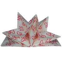 Buy cheap pre-folded paper napkins for wedding 40cm x 60cm printed paper napkin product