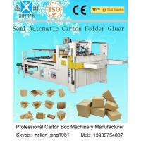 China Siemens Electric Carton Making Machine of Semi-Auto Folder Gluer 4KW 5300mm Length on sale