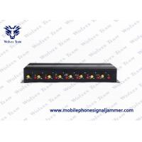Buy cheap 3G / 4G Wireless Signal Jammer Device Multiple Bands With Portable Aluminum Box product