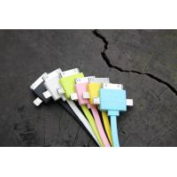 Buy cheap Colorful 3 in 1 Universal Cell Phone USB Cable 30 Pin For IPhone 4 Charging product