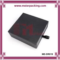 Buy cheap Black engagement sliding cardboard paper gift packaging drawer box ME-DR019 product