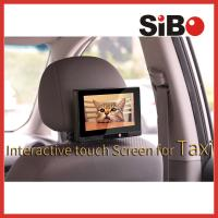 Taxi Headrest Touch Advertising Screen with Content Management System