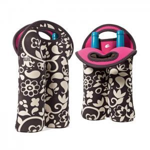 Buy cheap Portable 2 Pack Red Wine Bottle Cooler Sleeve , Neoprene Bulk Wine Bottle Cooler Bag product