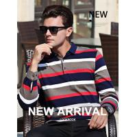 Quality 2019 Men's New Latest Yarn Dyed Design High Quality Long Sleeve Polo Shirt for sale