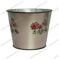 Buy cheap Painting finish metal flower container for home&garden product