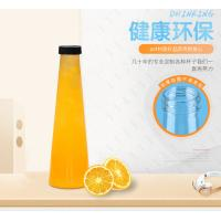 China 450ml 500ml Clear Plastic Juice Bottles Enviromently Friendly Uv Printing on sale