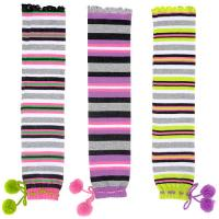 Buy cheap Individual Comfortable Colorful Striped Knitted Leg Warmers Free Pattern For Gilrs product