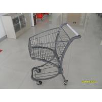 Buy cheap 40L Steel Tube Airport Supermarket Shopping Trolley With Advertisement Board product
