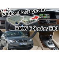 Buy cheap BMW E60 5 series CIC system Car Gps Navigation Mirror link youtube bluetooth Wifi from Wholesalers