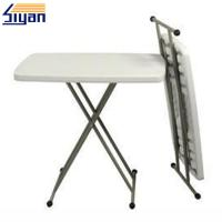 Buy cheap Blow Mold Adjustable Table Top Foldable Table With Wooden Materials product