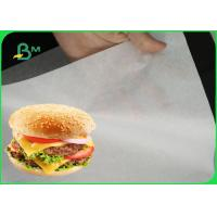 Buy cheap 35gsm White Greaseproof Paper Roll / Natural Food Wrapping Paper For Burger Wrapping product