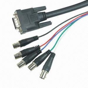 Buy cheap VGA cables/VGA plug to 5BNC jacks with ferrite product