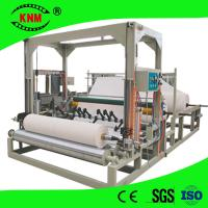 Buy cheap Jumbo roll center pull dispenser toilet paper slitting rewinding machine product