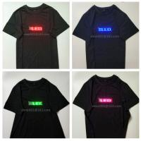 Buy cheap change  message  by customer Led neutral advertising led tshirt for men and women flashing party's tshirt  include LED product