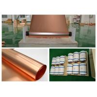 China Refined Ultra Thin Copper Sheet , Max 620mm Width Battery Copper Sheet Roll on sale