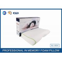 High Concave Side Sleeper Memory Foam Pillow with Jacquard Tencel Pillow case , Color Box