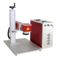 Buy cheap 0.5MM Depth IPG Mini Laser Engraver Machine 7000MM Marking Speed For Metal product