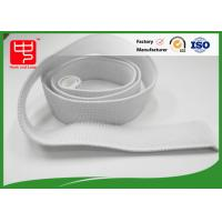 Buy cheap White Elastic Hook And Loop Straps With 100% Nylon Material No Pollution product
