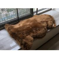 Buy cheap Real Australia Sheepskin Dark Brown Dyed Thick Long Australia Wool Carpet rug product
