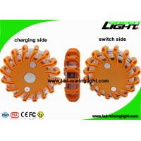 Buy cheap Rechargeable Amber Led Road Flares Emergency Disc , Super Bright Durable Flashing Warning Beacon product