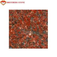 Buy cheap Polished Flamed Granite Stone , India Imperial Flower Red Granite Slab product