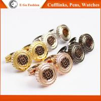 Buy cheap Rose Gold Black Silver Golden Cuff Links for Man Top Brand Aigner Copy Cufflinks for Man from Wholesalers