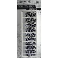 Buy cheap OEM EN - 71 Approved Black And White Manicure Art Polish Tip Nail Stickers product