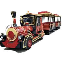 Buy cheap 16 Persons Tourist Train Rides Mini Express Trackless Train 18km/H Steering from wholesalers