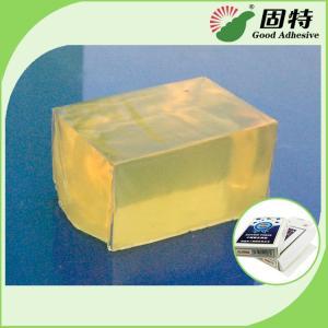 Buy cheap Poker Box Hot Melt Pressure Sensitive Adhesives Glue For Box , Block Shaped product