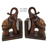 Home Decoration Polyresin Elephant Bookend Crafts