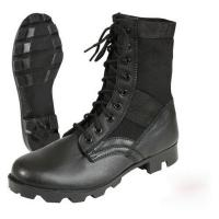 Buy cheap Leather Black Military Jungle Boots Canvas Nylon Upper For Camping product