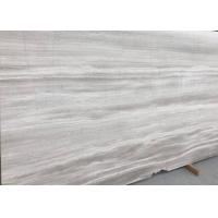 Buy cheap Decorative Athena Grey Marble Tile , Bathroom Wood Look Marble Cut To Size product