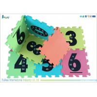 Buy cheap Non - Slip Alphabet And Numbers Mat , Interlocking Foam Floor Mats For Children product
