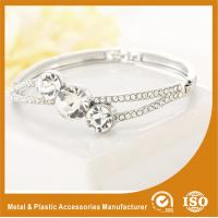 Buy cheap Three Stones Shape Solid Silver Costume Jewellery Bangles Imitation Diamond product